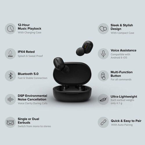 Refurbished Redmi Earbuds 2C in-Ear Truly Wireless Earphones