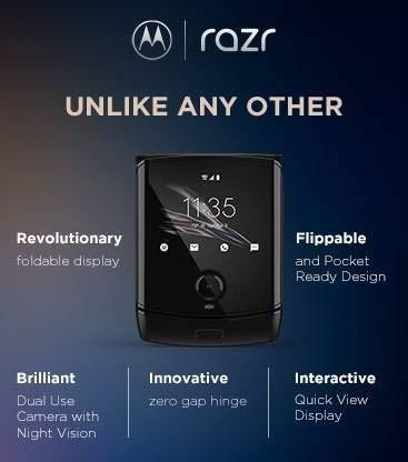 Refurbished Motorola Razr (Black, 128 GB)